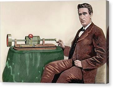 Thomas Alva Edison (1847-1931 Canvas Print by Prisma Archivo