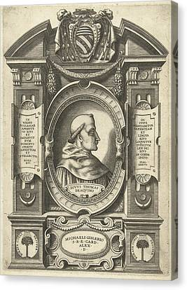 Thomas Aquinas, Jacob Bos, Antonio Lafreri Canvas Print by Jacob Bos And Antonio Lafreri And Antonio Michele Ghislieri