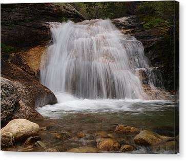 Canvas Print featuring the photograph Thomas Canyon Waterfall by Jenessa Rahn