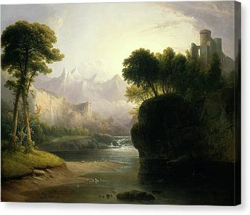 Thomas Doughty, Fanciful Landscape, American Canvas Print by Litz Collection
