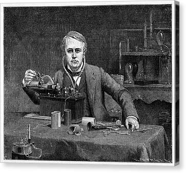 Thomas Edison Canvas Print by Cci Archives