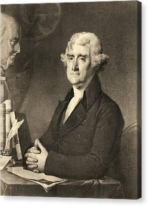Thomas Jefferson Canvas Print by American School