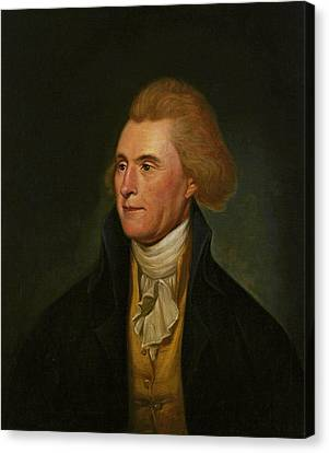 Thomas Jefferson Canvas Print by Charles Wilson Peale