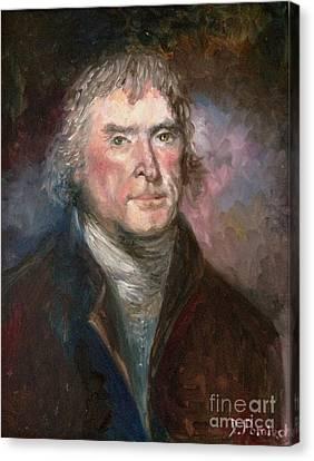Thomas Jefferson Canvas Print by Irene Pomirchy