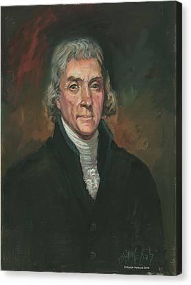 Thomas Jefferson Canvas Print by Kaziah Hancock