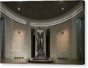 Canvas Print featuring the photograph Thomas Jefferson Memorial At Night by Sebastian Musial