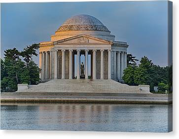 Canvas Print featuring the photograph Thomas Jefferson Memorial At Sunrise by Sebastian Musial