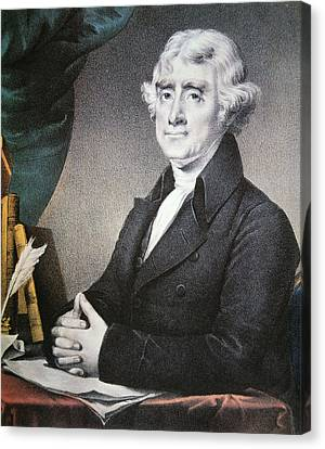 Thomas Jefferson Canvas Print by Nathaniel Currier