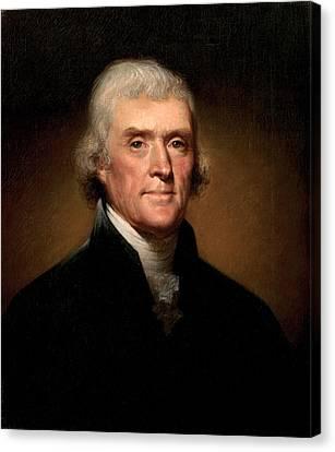 Founding Fathers Canvas Print - Thomas Jefferson by Georgia Fowler
