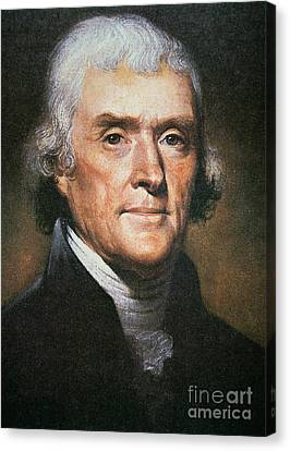 Thomas Jefferson Canvas Print by Rembrandt Peale