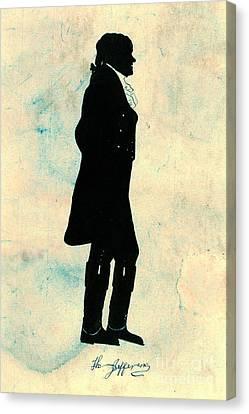Thomas Jefferson Silhouette 1800 Canvas Print by Padre Art