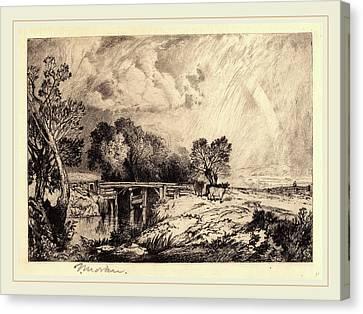 Thomas Moran Canvas Print - Thomas Moran, A Rustic Bridge, American, 1837-1926 by Litz Collection