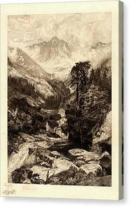 Thomas Moran Canvas Print - Thomas Moran, American 1837-1926, The Mountain Of The Holy by Litz Collection