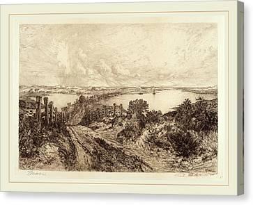 Thomas Moran Canvas Print - Thomas Moran, Morning, American, 1837-1926 by Litz Collection
