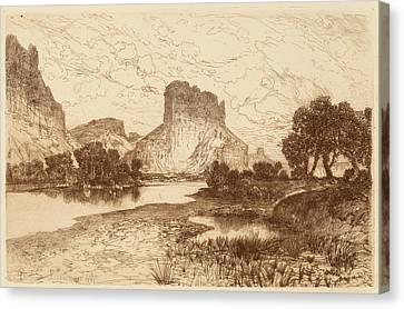Thomas Moran Canvas Print - Thomas Moran, The Green River, Wyoming Territory by Quint Lox