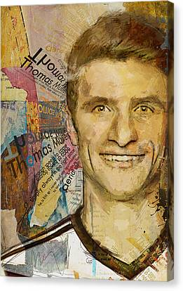 Thomas Muller Canvas Print by Corporate Art Task Force