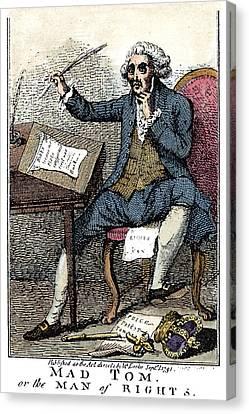 Thomas Paine Cartoon, 1791 Canvas Print by Granger