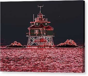 Thomas Point Light House Canvas Print