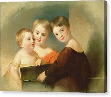 Thomas Sully, The Vanderkemp Children, American Canvas Print