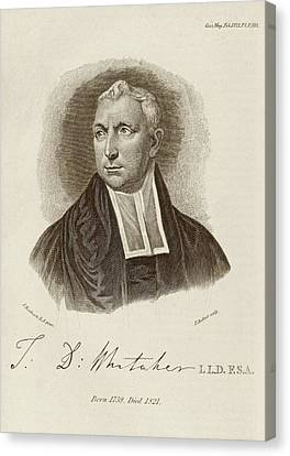Thomas Whitaker Canvas Print by Middle Temple Library