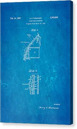 Thomason Solar Panel Patent Art 1967 Blueprint Canvas Print by Ian Monk