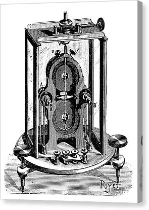 Thomson Galvanometer Canvas Print by Science Photo Library