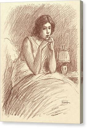 Théophile Alexandre Steinlen Swiss, 1859 - 1923. Morning Canvas Print by Litz Collection