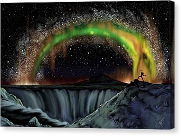 Thor And Jormungand Canvas Print