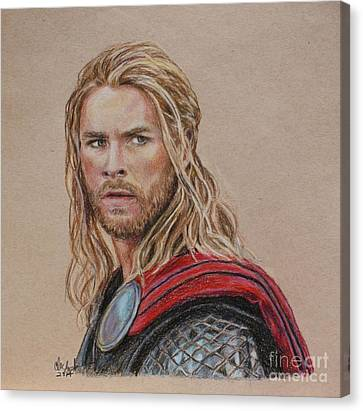 Thor Canvas Print by Christine Jepsen