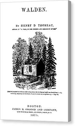 Thoreau Walden, 1875 Canvas Print
