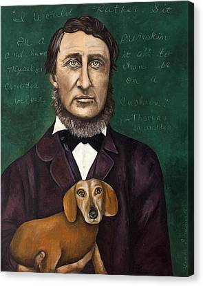 Thoreau With Louis Le Bref Canvas Print by Leah Saulnier The Painting Maniac