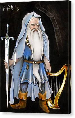 Gold Chain Canvas Print - Thorin Oakenshield by Ilias Patrinos