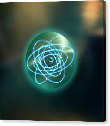 Thorium Atom Canvas Print by Richard Kail