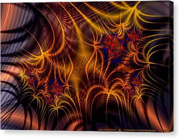 Thornweb In Amberorange  Canvas Print by Ann Stretton