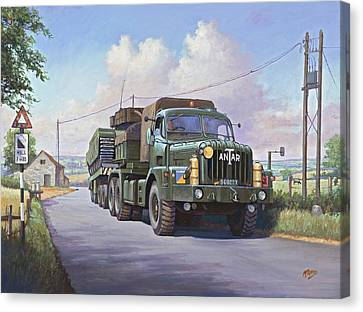 Thornycroft Antar. Canvas Print by Mike  Jeffries