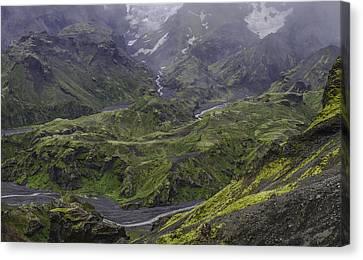 Thorsmork Toward Myrdalsjokull Canvas Print