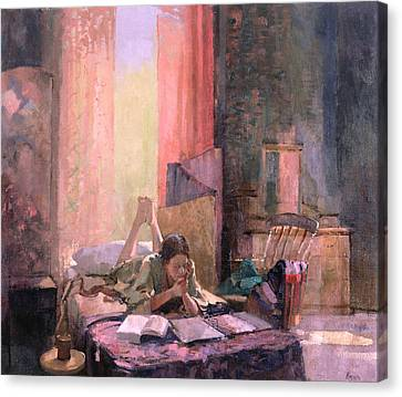 Those A Levels Oil On Canvas Canvas Print by Bob Brown