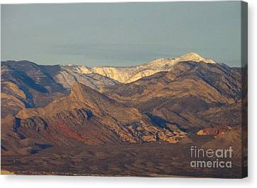 Those Beautiful Snow Cap Mountains Of Nv Canvas Print