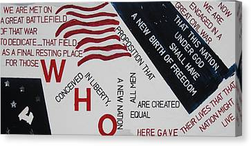 Those Who Gave Their Lives Canvas Print by Lawrence  Dugan