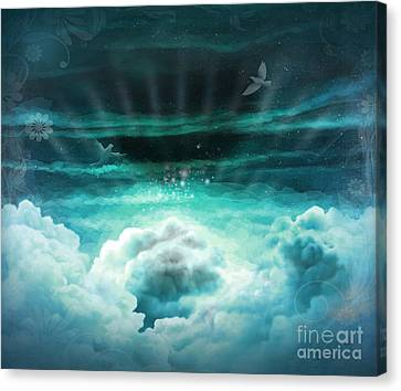 Those Who Have Departed - Celestial Version Canvas Print by Bedros Awak