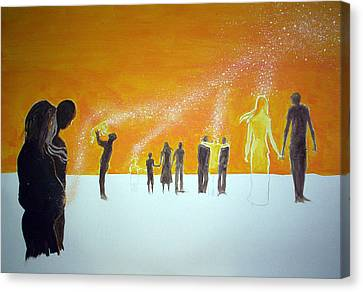 Those Who Left Early Canvas Print by Lazaro Hurtado