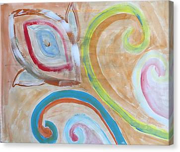 Canvas Print featuring the painting Thought by Sonali Gangane
