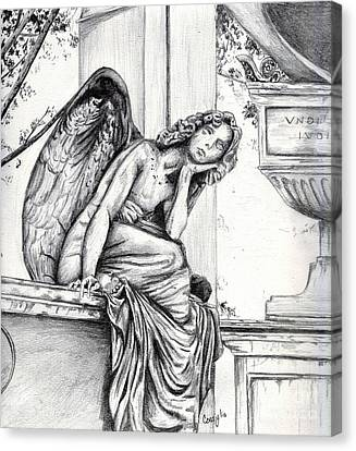 Thoughtful Angel Canvas Print