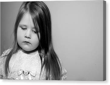 Thoughtful Little Girl Canvas Print by Stephanie Grooms