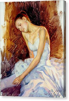 Thoughtful Young Ballerina Canvas Print