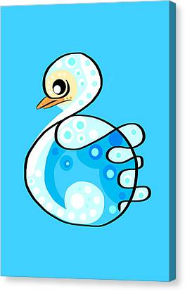 Ducklings Canvas Print - Thoughts And Colors Series Duckling by Veronica Minozzi
