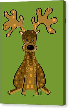 Thoughts And Colors Series Reindeer Canvas Print