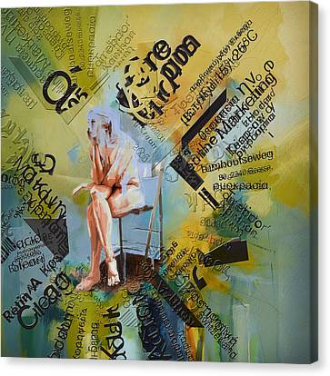 Thoughts Canvas Print by Corporate Art Task Force