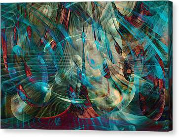 Thoughts In Motion Canvas Print by Linda Sannuti