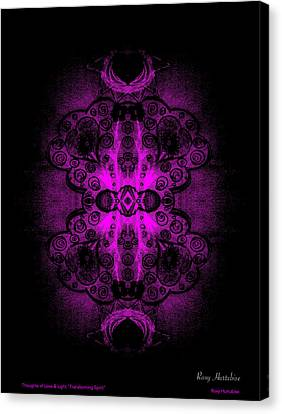 Thoughts Of Love And Light Transforming Spirit Black Border Canvas Print